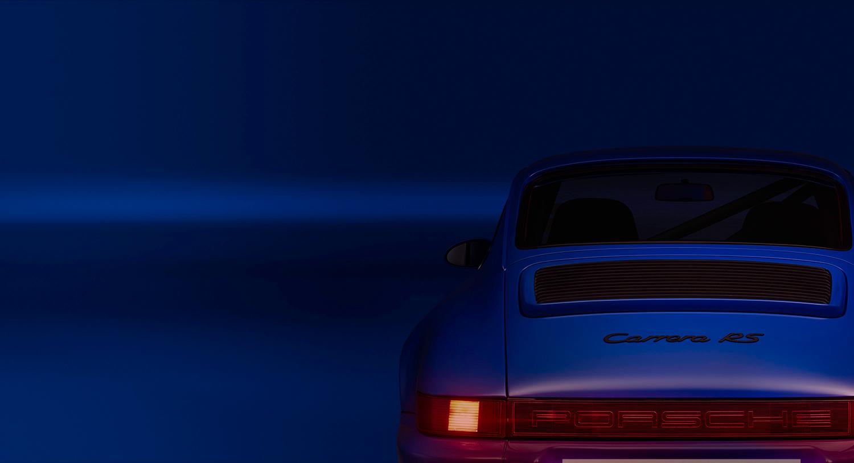 Approach_Retouch_London_Porsche_Carrera_RS_Blue_Back_