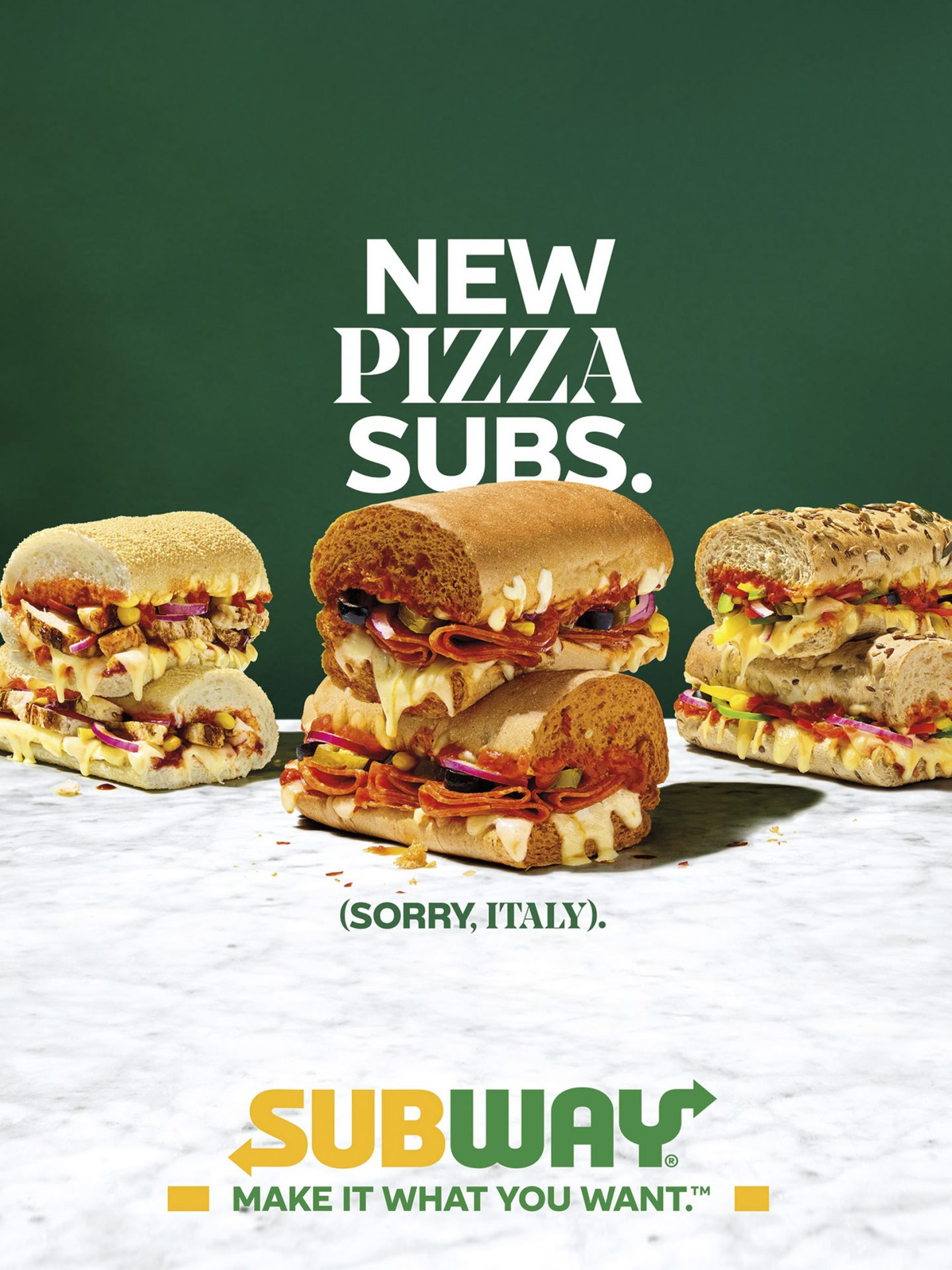 Subway Pizza Sub